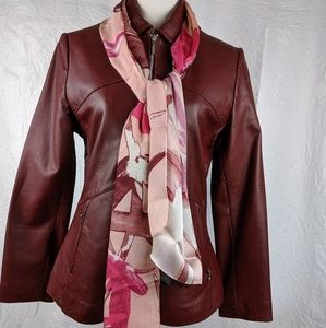 Excelled Red Leather Jacket S